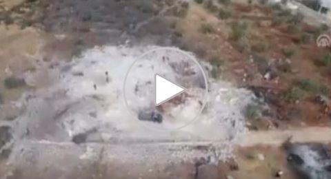 بالفيديو..مناظر جوية تُظهر للمرة الأولى مكان مقتل البغدادي