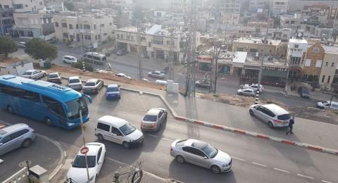 الازدحام يؤدي بالشرطة لاغلاق الشارع المؤدي الى جبل الشيخ