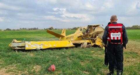النقب: سقوط طائرة خفيفة واصابة متوسطة لقائدها