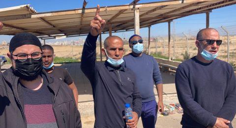 شبان من يافا يتضامنون مع الشيخ صلاح ويحتجون أمام السجن