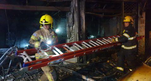 4 اصابات بينها خطيرة جراء حريق في حيفا