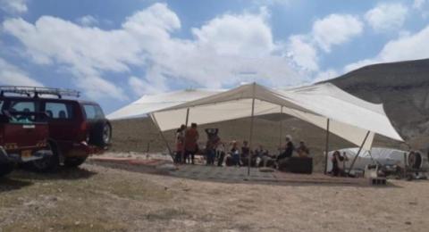 مستوطنون ينصبون خياما في برية تقوع شرق بيت لحم