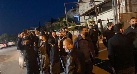 ام الفحم: صلاة الغائب على روح المرحوم  عنبتاوي الذي قتله الشرطة