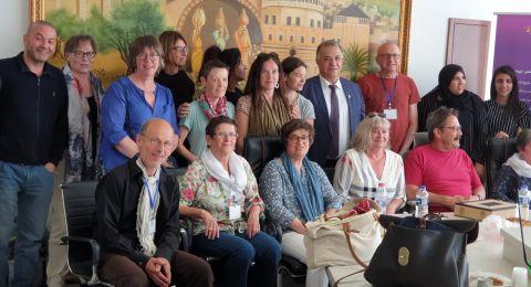 جمعية التضامن الفرنسية مع الشعب الفلسطيني تزور بلدية الناصرة