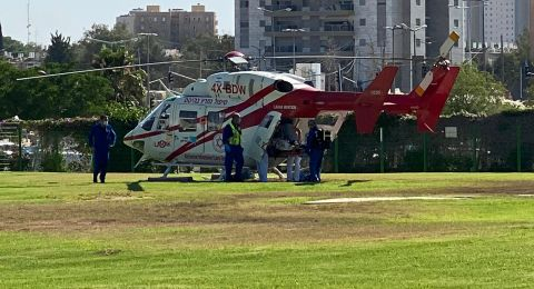 النقب: اصابة إمرأة بصورة خطرة جراء حادث طرق