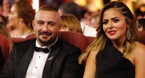 قلب وخرزة زرقاء.. هكذا احتفل أحمد السقا بيوم ميلاد زوجته