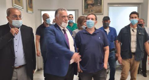 وزير السياحة في زيارة لبلدية الناصرة ويعد بدعم المدينة