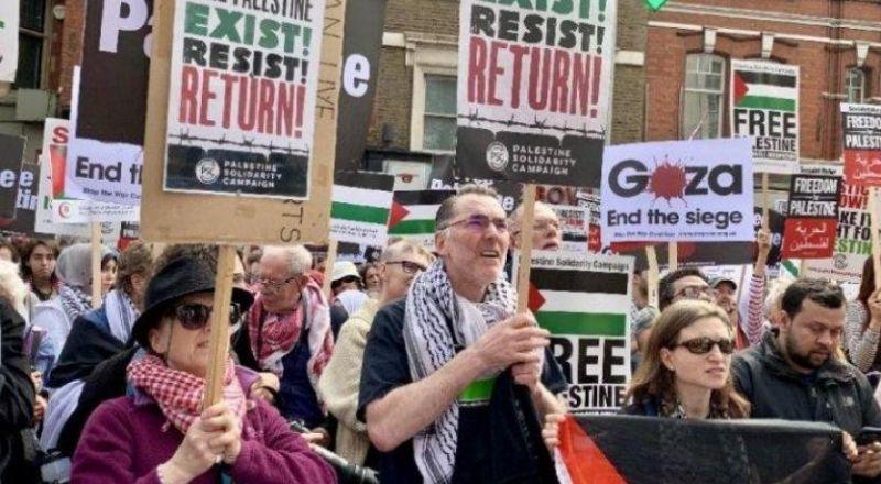 تظاهرة حاشدة أمام السفارة الإسرائيلية في واشنطن رفضا لمخطط الضم