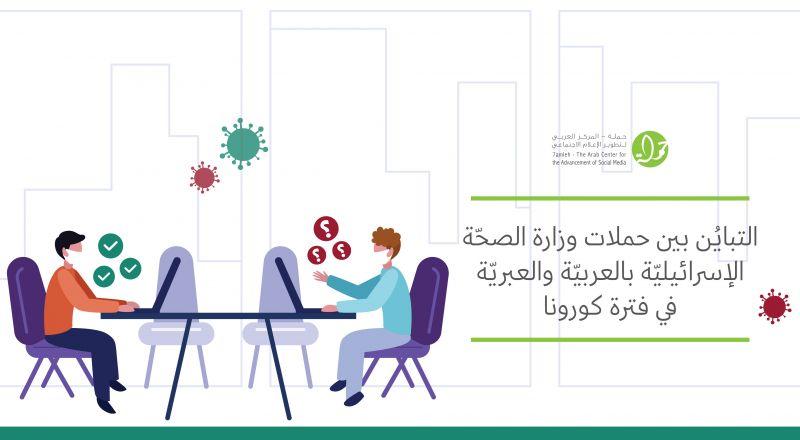 مركز حملة يصدر تقريرًا لرصد التباين بين حملات وزارة الصحة الإسرائيلية باللغتين العربيّة والعبريّة في فترة كورونا