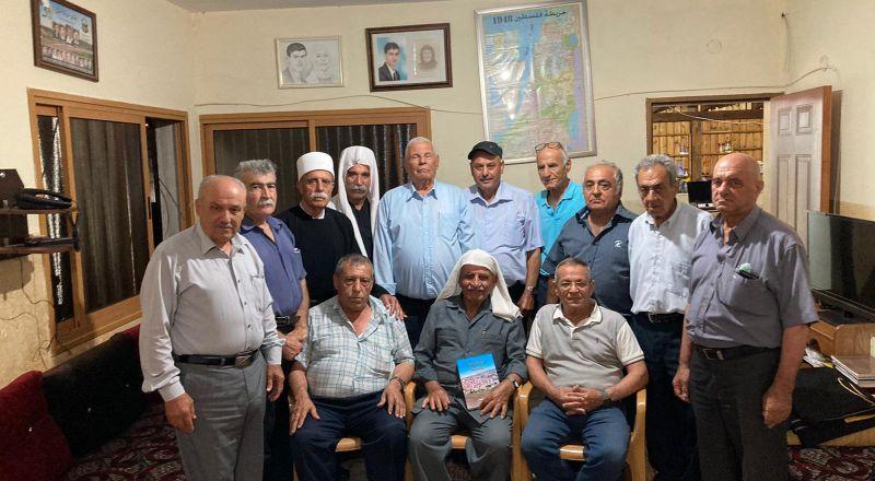 وفد لجنة المبادرة العربية الدرزية يزور القائد والأديب ابوصالح احمد الجربوني
