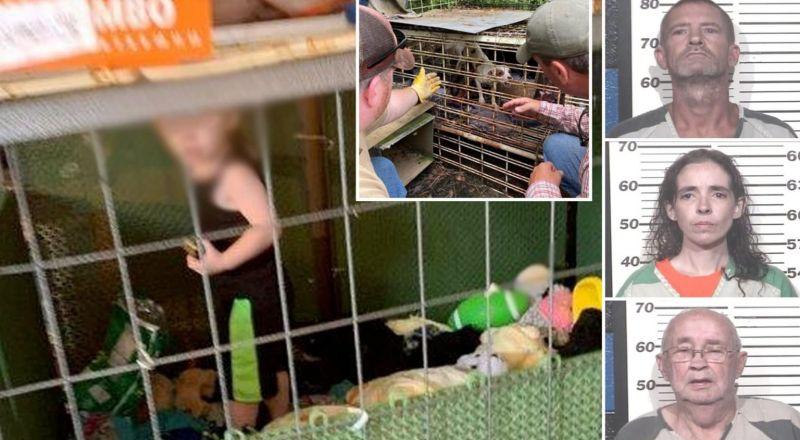 أمريكية تحتجز طفلها في قفص الكلاب.. والشرطة تكتشف مفاجأة صادمة