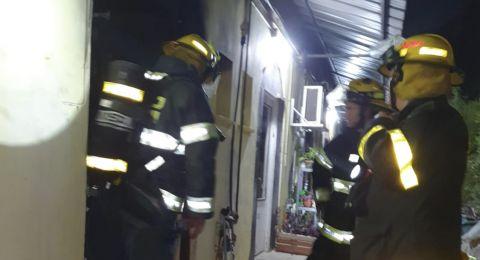 الناصرة: اصابة سيدة جراء حريق في منزل