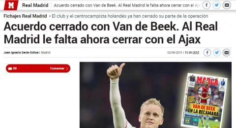 تقرير: ريال مدريد سيتعاقد مع فان دي بيك لـ6 مواسم