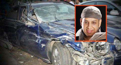 عصام كاريكا ينجو من الموت بعد حادث طرق