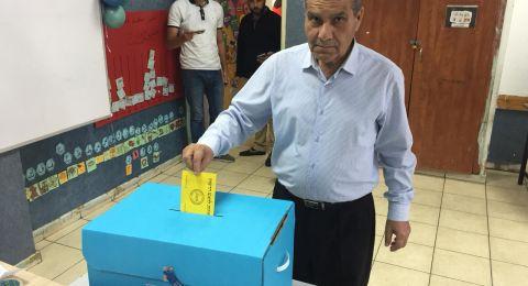 مرشح الرئاسة عبد الكريم زعبي يدلي بصوته في بستان المرج