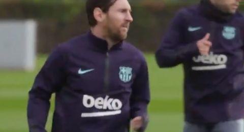 ميسي يفاجئ جماهير برشلونة