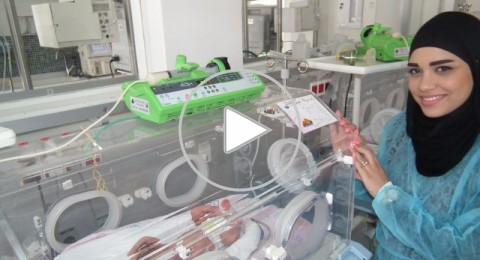 الشفاعمرية آية سواعد تنجب ثلاثة توائم في مستشفى العائلة المقدسة