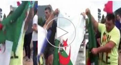 جماهير فرنسية تحرق علم الجزائر احتفالا بتخطي نيجيريا