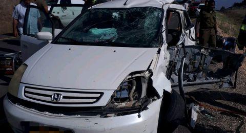 7 إصابات بحادث مروع بين مركبة خصوصية وأخرى للأمم المتحدة بالجولان