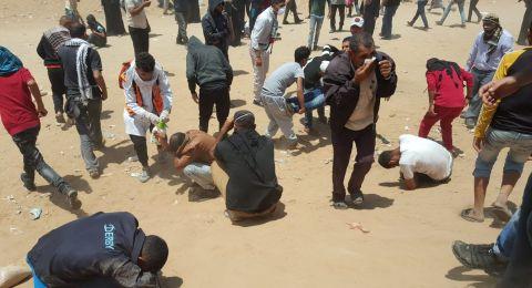إصابات بغزة جراء اعتداء الاحتلال على