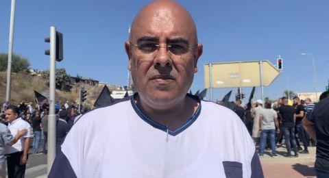 احمد امين الجابر لـبكرا: ننهي عملنا في خيمة الاعتصام في امّ الفحم وسنقرّ الخطوات لاحقاً