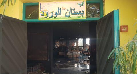 احراق روضة في الزبيدات - واخلاء بناية بعد حريق في كفر ياسيف