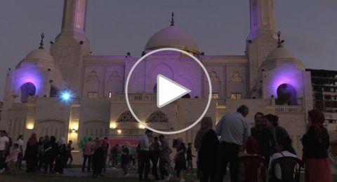 مسجد باللون الوردي في غزة للتوعية بسرطان الثدي