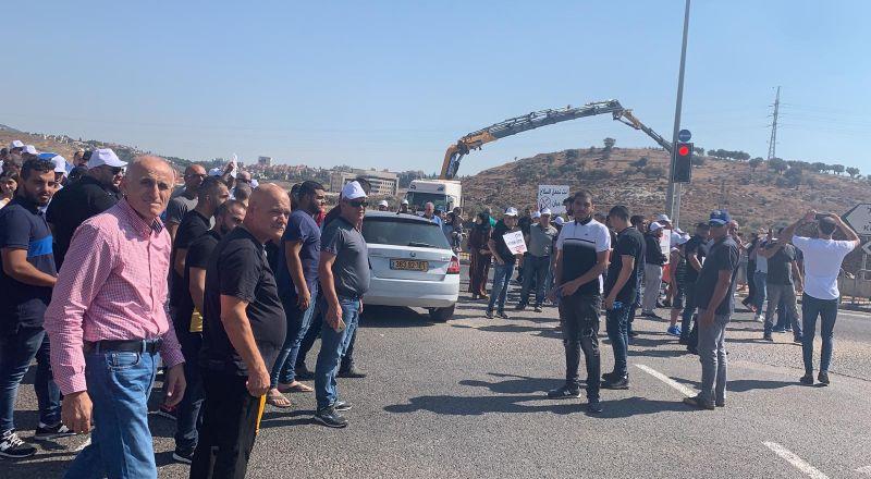 احتجاجات ضد العنف على مفترق البعنة- دير الأسد