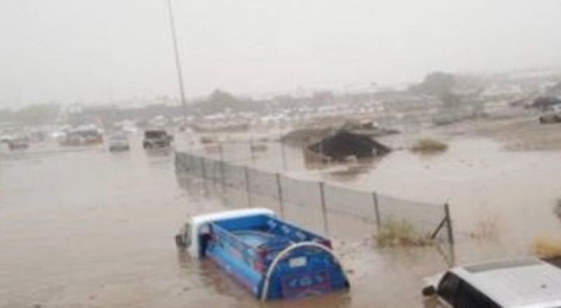 فيديو: سيول وأمطار رعدية ورياح شديدة على مكة