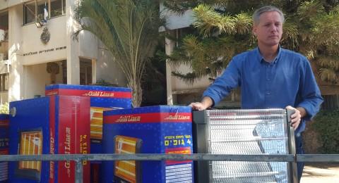الجلبوع: توزيع مدافئ كهربائية لبيوت تنقصها وسائل تدفئة اثر موجة البرد