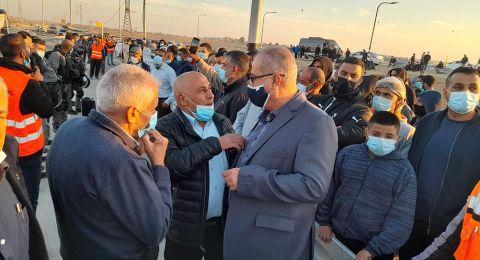 العشرات في تظاهرة منددة بسياسة مصادرة الأراضي في النقب
