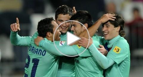برشلونة يهزم الميريا بثلاثية ويتأهل لنهائي الكأس