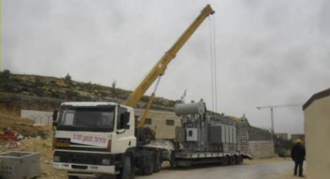 كهرباء القدس تنهي المرحلة الأولى من تجهيز محطة التحويل في مدينة روابي