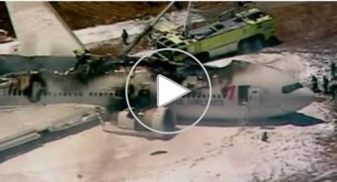 تحطم طائرة بوينج 777 في مطار سان فرانسيسكو