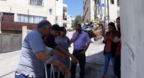 النائبان عايدة توما-سليمان وعوفر كسيف يزوران بلدة العيسوية في القدس