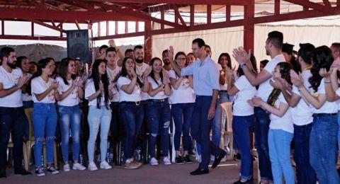 الأسد في حوار مفتوح مع الشباب في صيدنايا