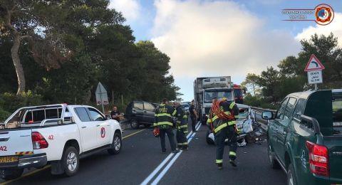 إصابتان بحادث طرق مروع بين جامعة حيفا وعسفيا