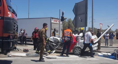 القتيلان بحادث الطرق في النقب: فرج عبود وبدر أبو لقيمة