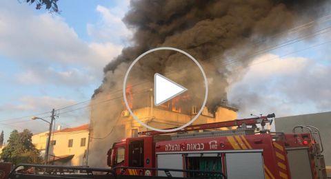 اندلاع حريق في شقة لمربية اطفال في روش هعاين