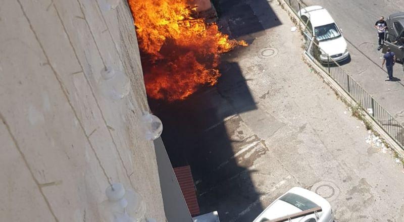 نتسيرت عيليت: تخليص سيدة من شقة سكنية بعد اندلاع النيران في كومة نفايات