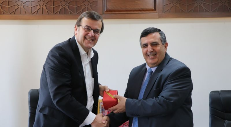 رئيس بلدية بيت لحم يستقبل رئيس بلدية الياج البلجيكية والوفد المرافق