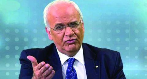 عريقات ردا على تصريحات نتنياهو وكوشنير: لا يبدو أنه سلام بل استسلام فلسطيني