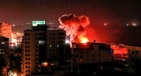 استمرار قصف قطاع غزة فجر اليوم