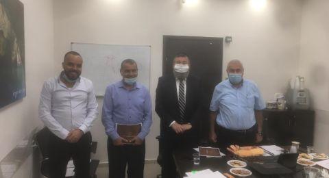 بستان المرج : رئيس المجلس عبد الكريم زعبي يجتمع مع نائب وزير الداخلية