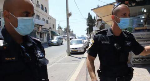 شرطة باقة الغربية تواصل نشاطها للحد من فيروس كورونا