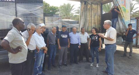 وفد من لجنة المبادرة العربية الدرزية يتضامن مع الخان الأحمر والعراقيب