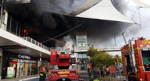 حريق هائل في مبنى