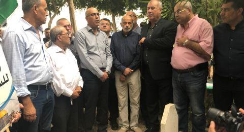جتّ: وضع الأكاليل على ضريح الشهيد رامي غرّة واستعدادات لإنطلاق المسيرة