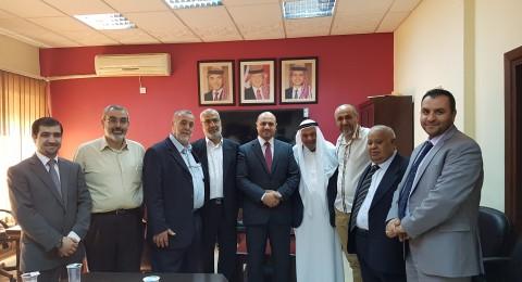لقاء لجنة التنسيق العليا مع وزير الاوقاف الاردني وطاقم مديرية الحج والعمرة