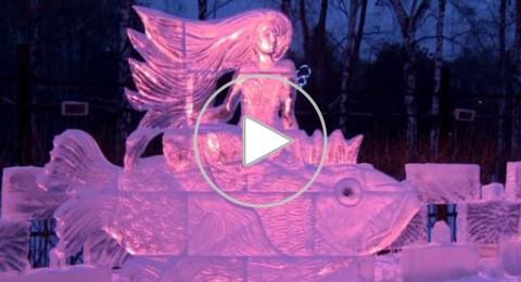 فن المنحوتات الثلجية بمعرض بموسكو